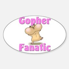 Gopher Fanatic Oval Decal