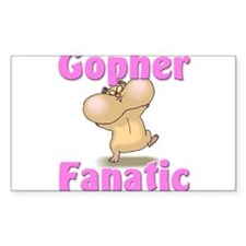 Gopher Fanatic Rectangle Decal