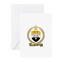 BERNIER Family Crest Greeting Cards (Pk of 10)