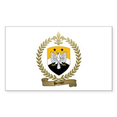 BERNIER Family Crest Rectangle Decal