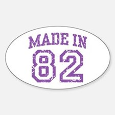Made in 82 Oval Decal