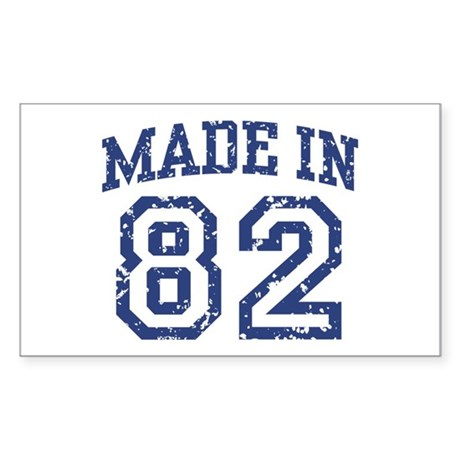 Made in 82 Rectangle Sticker