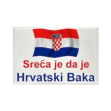 Sretan Hrvatski Baka Rectangle Magnet