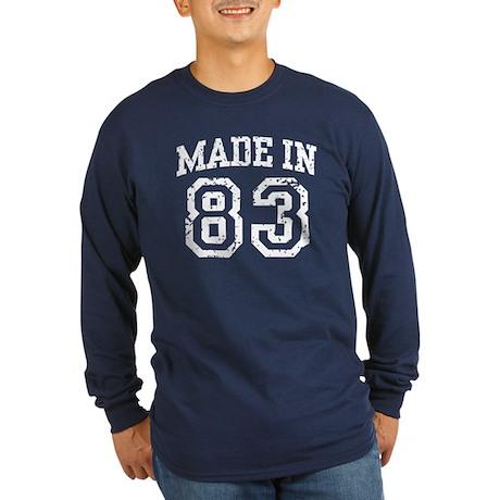 Made in 83 Long Sleeve Dark T-Shirt