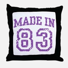 Made in 83 Throw Pillow