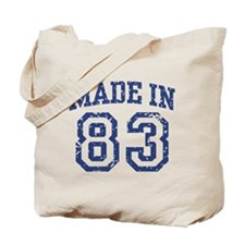 Made in 83 Tote Bag