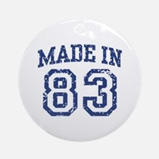 Made in 83 Ornament (Round)