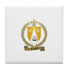 BAUCHER Family Crest Tile Coaster
