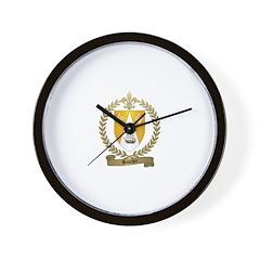 BAUCHER Family Crest Wall Clock