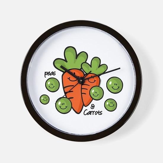 Peas And Carrots Wall Clock