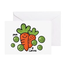 Peas And Carrots Greeting Card