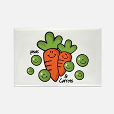 Peas And Carrots Rectangle Magnet