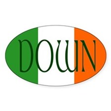 County Down Oval Decal