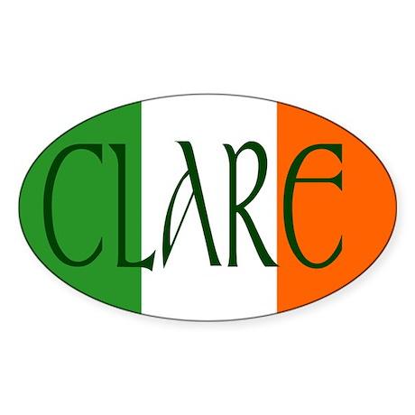 County Clare Oval Sticker (10 pk)