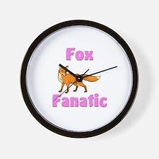 Fox Fanatic Wall Clock