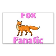 Fox Fanatic Rectangle Decal