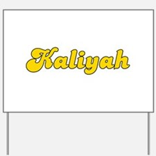 Retro Kaliyah (Gold) Yard Sign