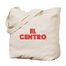 Retro El Centro (Red) Tote Bag
