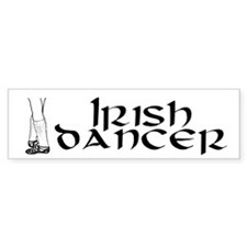 Classic Irish Dancer Bumper Car Sticker