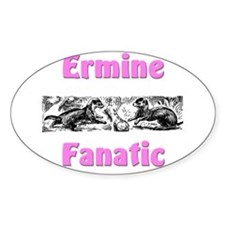 Ermine Fanatic Oval Decal