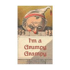 Grumpy Grampy Rectangle Decal