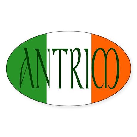 County Antrim Oval Sticker
