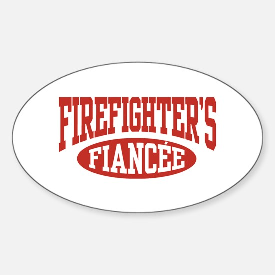 Firefighter's Fiancee Oval Decal