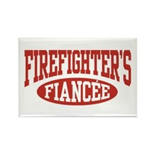 Firefighter's Fiancee Rectangle Magnet