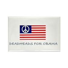 Deadhead Peace Rectangle Magnet