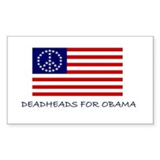 Deadhead Peace Stars Rectangle Decal