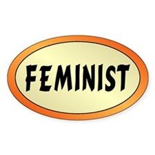 FEMINIST Oval Decal
