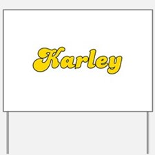 Retro Karley (Gold) Yard Sign