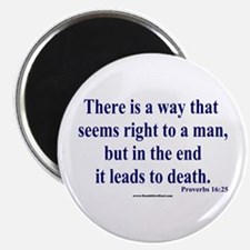 "Proverbs 16:25 2.25"" Magnet (10 pack)"