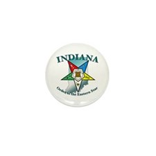 Indiana Eastern Star Mini Button (100 pack)