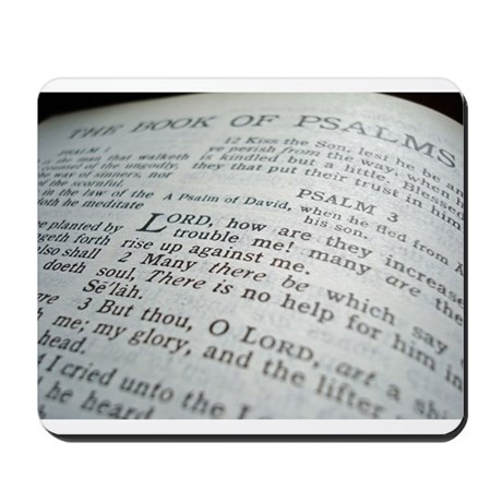 The Bible Book of Psalms Mousepad