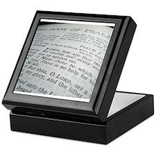 The Bible Book of Psalms Keepsake Box
