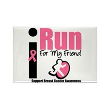 I Run For Breast Cancer Rectangle Magnet
