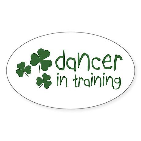 Irish Dancer in Training Oval Sticker