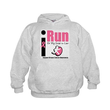 I Run For Breast Cancer Kids Hoodie
