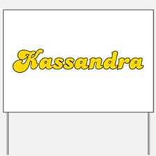 Retro Kassandra (Gold) Yard Sign