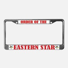 Order of the Eastern Star License Plate Frame