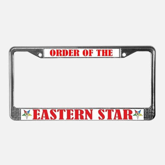 Order of the Eastern Star License Plate Frame