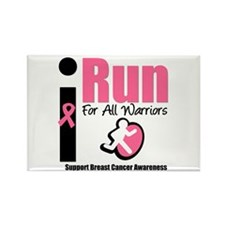 I Run For Breast Cancer Rectangle Magnet (10 pack)