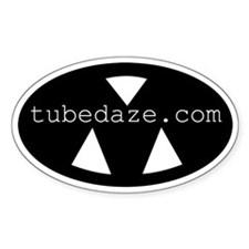 "Major Morale ""tubedaze.com"" oval sticker"