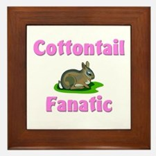 Cottontail Fanatic Framed Tile
