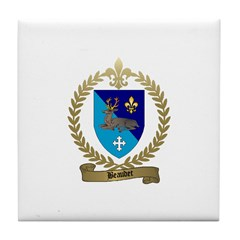 BEAUDET Family Crest Tile Coaster