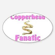 Copperhead Fanatic Oval Decal