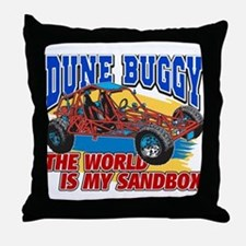 Dune Buggy Sandbox Throw Pillow