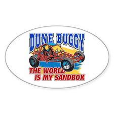 Dune Buggy Sandbox Oval Bumper Stickers