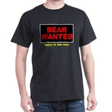 Bear Wanted-Apply Rear Black T-Shirt